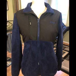 FILA blue zip up jacket, comfy fabric